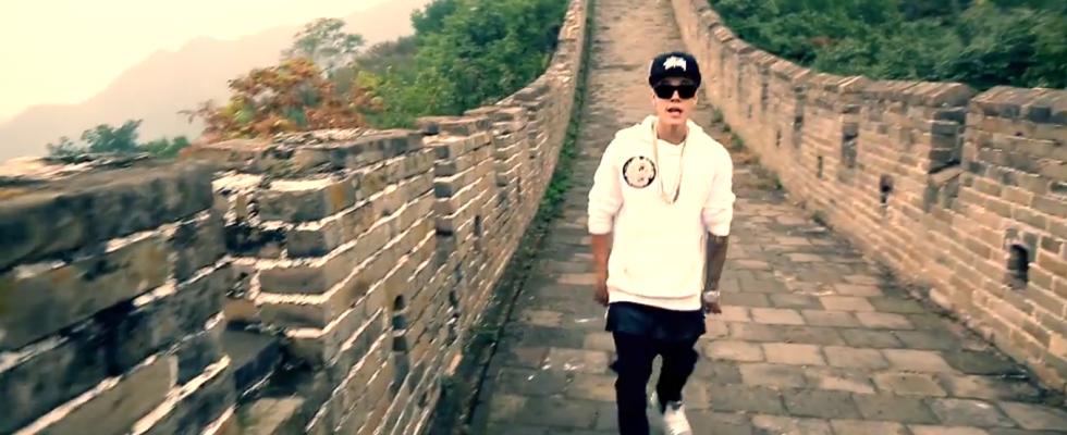 Justin Bieber a videoklip z Velké čínské zdi  1