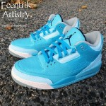Air Jordan III (3) 'Azure' Custom 6