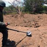 Kráter v nikaragujské hlavním městě Managua  je výsledkem dopadu meteoritu.