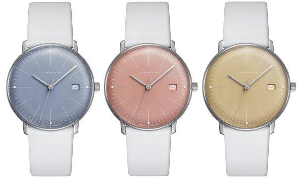 Dámské barevné modely hodinek od Max Bill 1