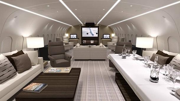 Soukromý Boeing 787-8 s královským apartmá na palubě 1