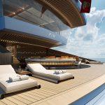 Koncept dvoupodlažní super jachty: ideální místo na párty?