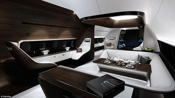 Společnost Mercedes spolupracuje na vývoji luxusní letecké kabiny 1