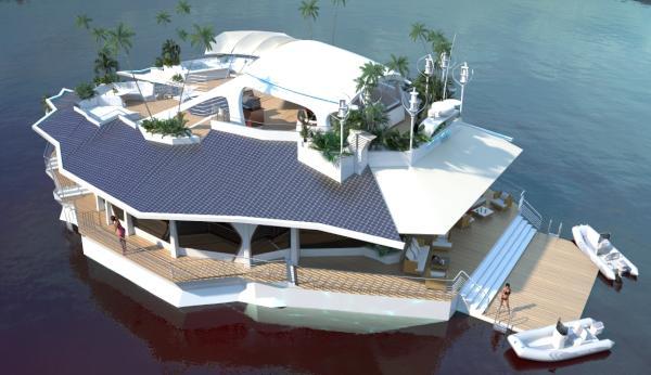 Plovoucí hotel realitou: tisíc metrů čtverečních za pár miliónů eur 1