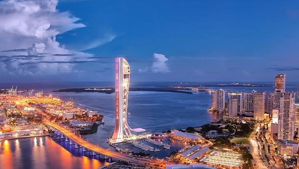 Horké Miami se brzy pochválí bizarní stavbou ve tvaru skluzavky 1