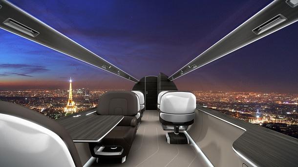 Konstruktéři z Francie představili letadlo budoucnosti. Bude bez oken, ale s panoramatickým výhledem 1
