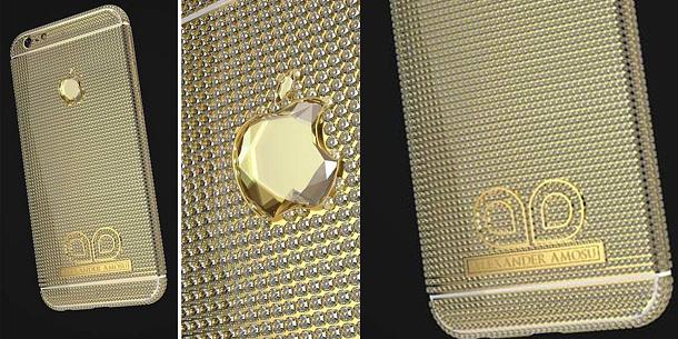 Nejdražší iPhone 6 na světě je vyrobený z 18-karátového zlata a má diamant ve tvaru loga Apple 1