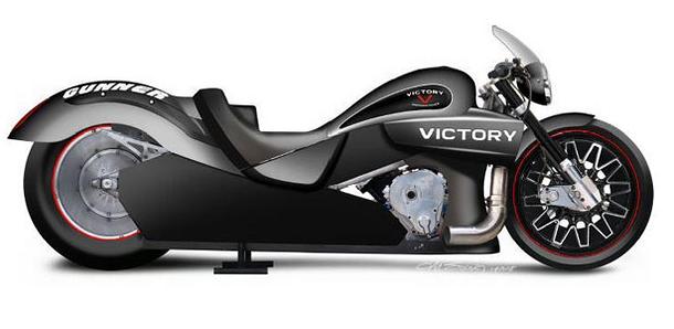 Drag motocykl od společnosti Victory je již svým názvem předurčen k vítězství 1