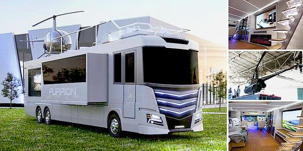 Furrion Elysium je luxusní karavan s vlastní vířivkou a přistávací plochou pro helikoptéry 1