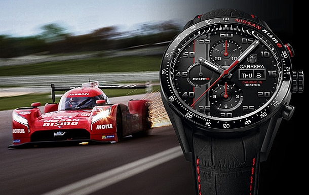 24-hodinový závod v Le Mans s novým monstrem Nissan GT-R LM Nismio a specialitkou Tag Heuer Carrera Nismo 1