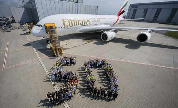 Video: Areolinky Emirates oslavují výrobu 50-tého Airbusu A380. Nahlédněte do zákulisí výroby 1