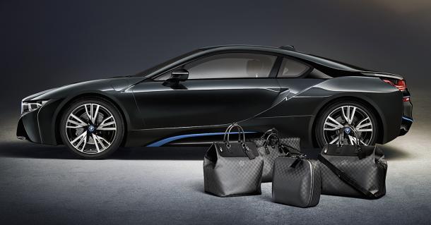 Louis Vuitton vytvořil exkluzivně cestovní tašky pro geniální BMW I8 1