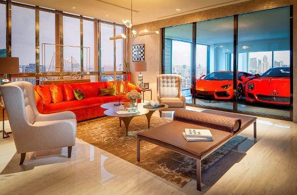 Boháči v Singapuru parkují své Ferrari přímo v obývacím pokoji 1