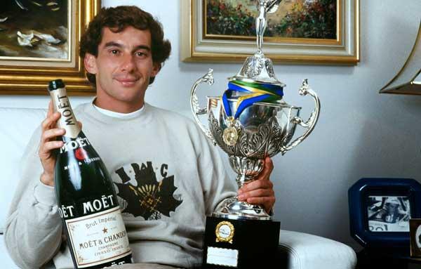 Ochutnejte život šampióna F1 Ayrtona Senny v láhvi Moët & Chandon 1