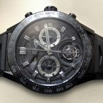 První živé fotografie prototypu hodinek TAG Heuer Carrera Calibre Heuer 02 Tourbillon Chronograph 7