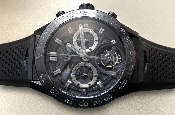 První živé fotografie prototypu hodinek TAG Heuer Carrera Calibre Heuer 02 Tourbillon Chronograph 1