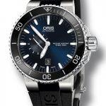 Aquis Small Second - potopěčské hodinky s modrým číselníkem a černou keramickou lunetou 6