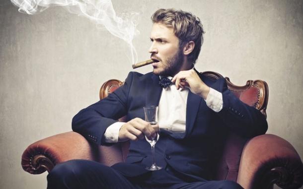 černé eben kouření