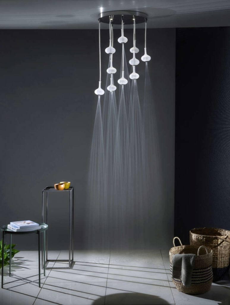Luxusní sprcha Melograno - deset saténových vyfukovaných skleněných koulí 2