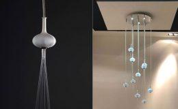 Luxusní sprcha Melograno - deset saténových vyfukovaných skleněných koulí 1