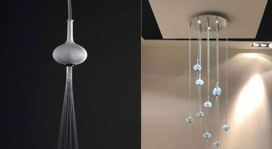 Luxusní sprcha Melograno - deset saténových vyfukovaných skleněných koulí 5