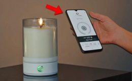 Svíčka, kterou můžete zapálit na dálku pomocí Bluetooth a mobilu 10