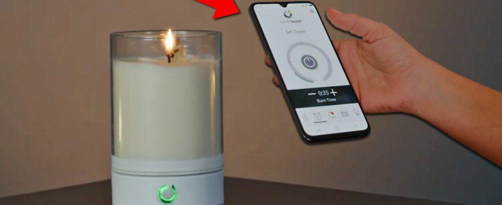 Svíčka, kterou můžete zapálit na dálku pomocí Bluetooth a mobilu 1