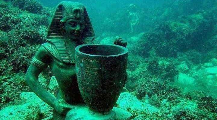 Potopený egyptský Herakleion vydává archeologické poklady 1