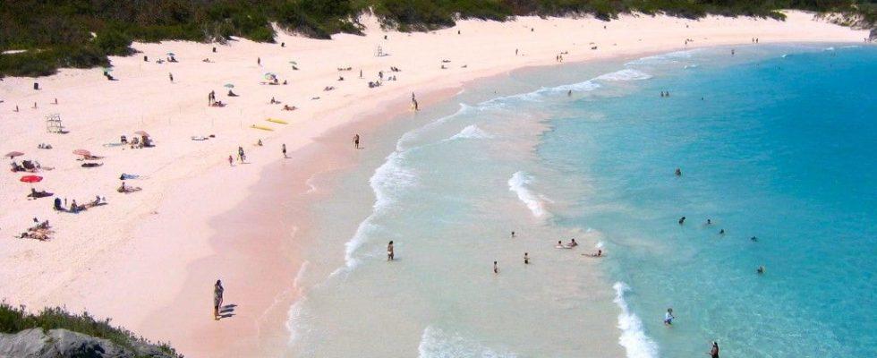 Horseshoe Bay - růžová pláž na Bermudách 1
