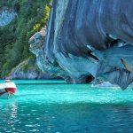 Mramorové jeskyně v Chile 7