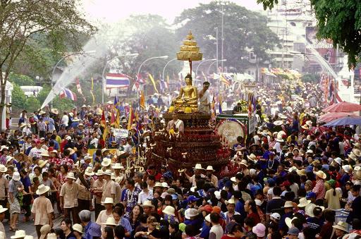 Festival Songkran v Chiang Mai 1