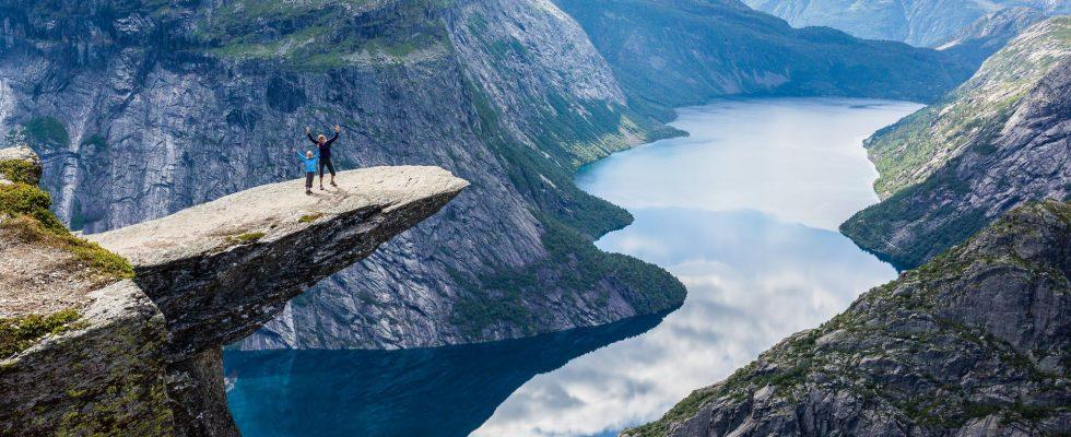 Fotogenická Trolltunga v Norsku 1
