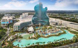 Řetězec Hard Rock Café otevřel na Floridě hotel ve tvaru kytary 5