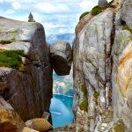 Jak na skalní útvar Kjeragbolten v Norsku 5
