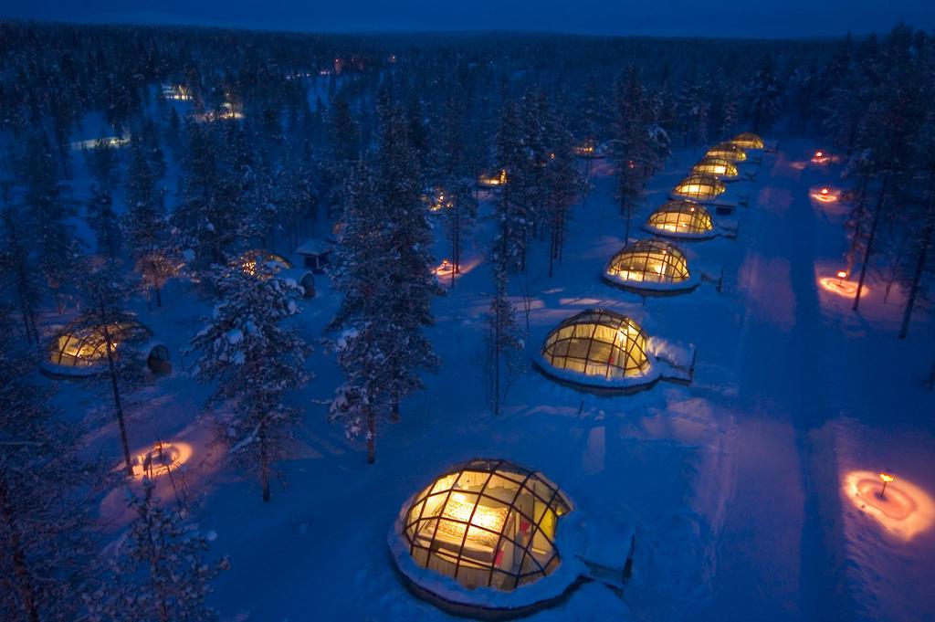 Nejlepší ledové hotely, iglú a sněhové vesnice v roce 2020 5