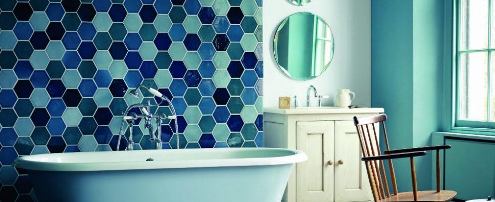 6 nápadů na použití dlaždic a kachlí v koupelně 1