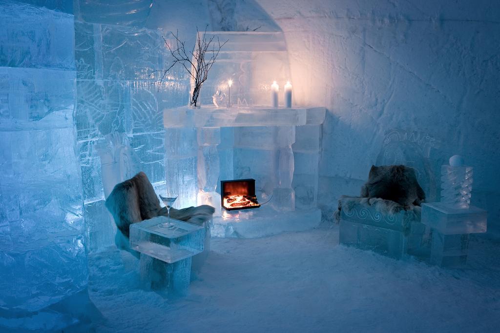 Nejlepší ledové hotely, iglú a sněhové vesnice v roce 2020 3