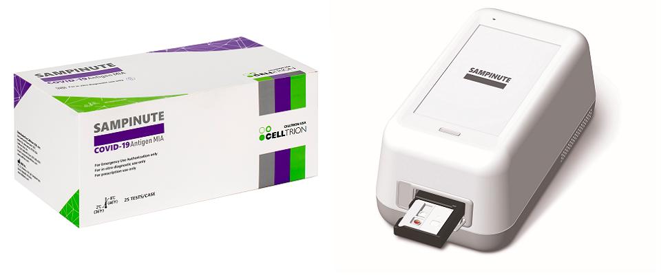 Testovací cartridge Sampinute COVID-19 Antigen MIA od Celltrion USA Inc. 1
