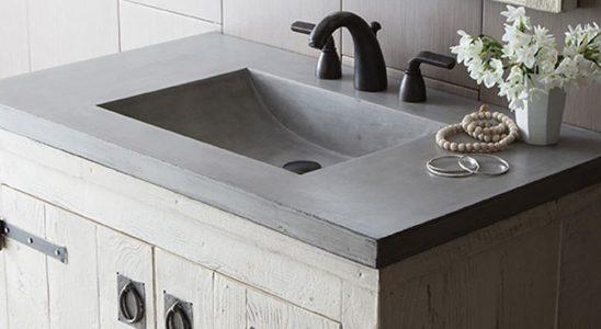 Jak odlít betonovou desku toaletního stolku do koupelny 4